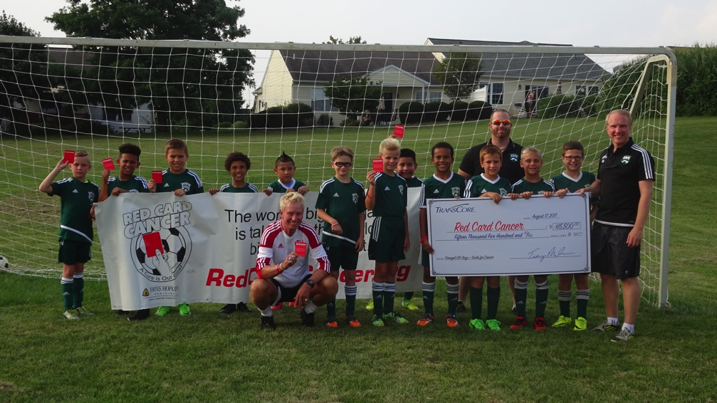 Donegal Thunder 07 U10 boy's team Donates $15,500